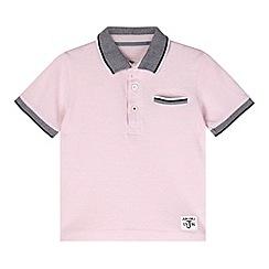 J by Jasper Conran - Designer boy's pink contrast collar polo shirt