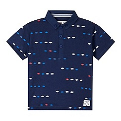 J by Jasper Conran - Designer boy's navy fish printed polo shirt