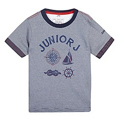 J by Jasper Conran - Designer boy's blue nautical t-shirt