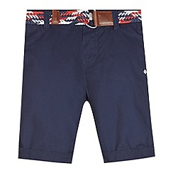 J by Jasper Conran - Boy's navy belted chino shorts