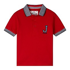 J by Jasper Conran - Designer boy's red applique logo polo shirt