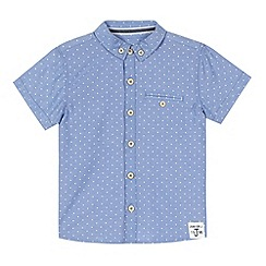 J by Jasper Conran - Designer boy's blue spotted shirt