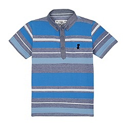 J by Jasper Conran - Designer boy's blue varied striped polo shirt