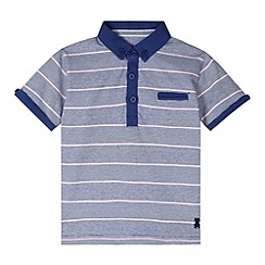 J by Jasper Conran - Designer boy's blue multi striped polo shirt