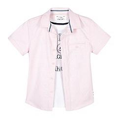J by Jasper Conran - Designer boy's pink sailing t-shirt and shirt set