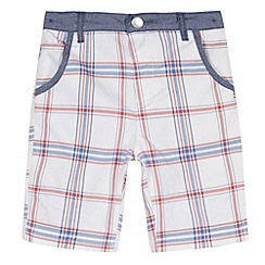 J by Jasper Conran - Designer boy's red checked twill shorts