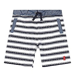 J by Jasper Conran - Designer boy's navy striped jersey shorts