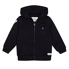 J by Jasper Conran - Designer boy's navy quilted sweat jacket