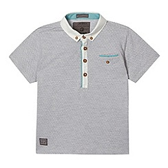 RJR.John Rocha - Designer boy's grey jacquard diamond polo shirt