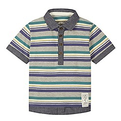 RJR.John Rocha - Designer boy's grey striped polo shirt