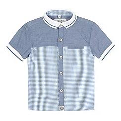 RJR.John Rocha - Designer boy's blue gingham polo shirt