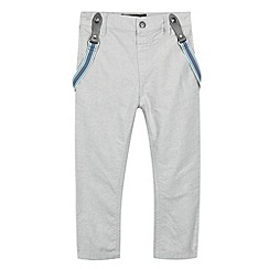 RJR.John Rocha - Designer boy's grey oxford trousers with braces