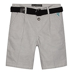 RJR.John Rocha - Designer boy's grey smart belted shorts