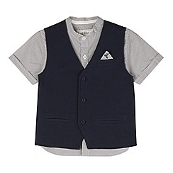 RJR.John Rocha - Designer boy's blue shirt and waistcoat set