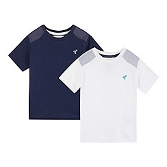 RJR.John Rocha - Pack of two designer boy's navy and white shoulder patch t-shirts