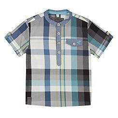 RJR.John Rocha - Designer boy's grey checked collarless shirt