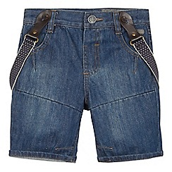 RJR.John Rocha - Designer boy's navy denim shorts with braces