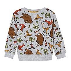 The Gruffalo - Boy's grey 'Gruffalo' character printed sweatshirt