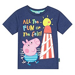 George the pig - Boy's navy 'George Pig' and fairground print t-shirt