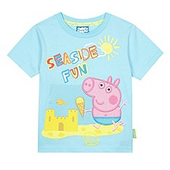 George the pig - Boy's blue 'George Pig' and seaside print t-shirt