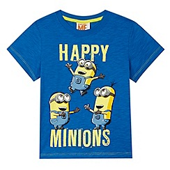 Despicable Me - Boy's blue 'Happy Minions' printed t-shirt