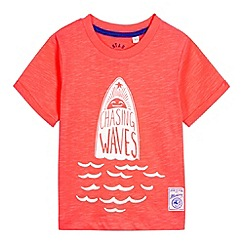 Mantaray - Boy's red 'Catch The Waves' t-shirt