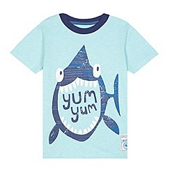 Mantaray - Boy's pale blue shark t-shirt