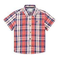 Mantaray - Boy's red checked shirt