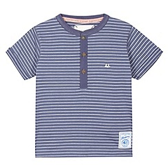 Mantaray - Boy's blue striped button top