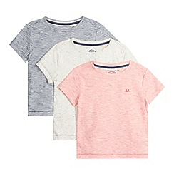 Mantaray - Set of three boy's red striped space dye t-shirts