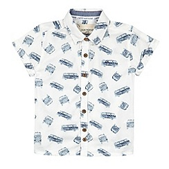 Mantaray - Boy's white van print shirt