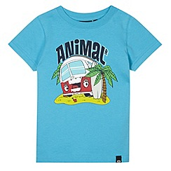 Animal - Boy's blue logo van print t-shirt