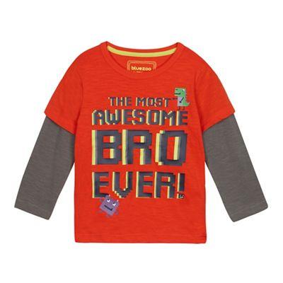 Boys orange striped Mischief t-shirt