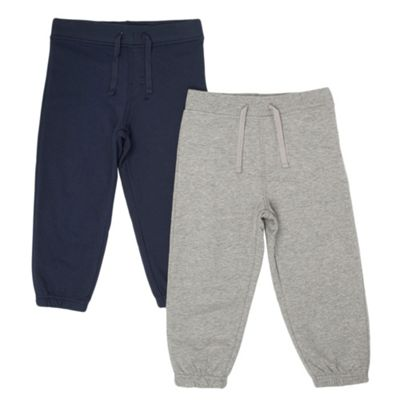 Boys Pack Of Two Jogging Bottoms
