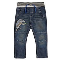 bluezoo - Boy's navy dinosaur applique denim jeans