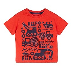 bluezoo - Boy's red 'Beep' vehicle t-shirt