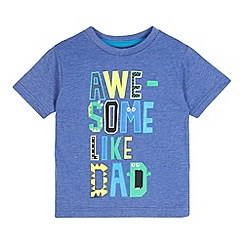 bluezoo - Boy's blue 'Awesome like dad' print t-shirt