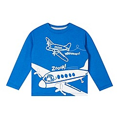 bluezoo - Blue plane print crew neck t-shirt