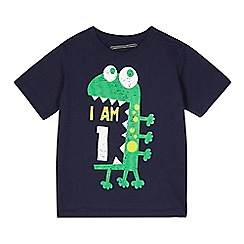 bluezoo - Boy's navy 'I am 1' monster t-shirt
