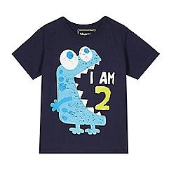 bluezoo - Boy's navy 'I am 2' monster t-shirt