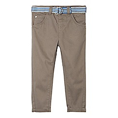 bluezoo - Boy's grey belted chinos