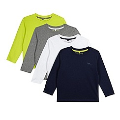 bluezoo - Pack of four boy's lime, white, grey and navy tops