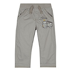 bluezoo - Boys' grey fire truck poplin trousers