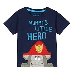 bluezoo - Boy's navy 'Little Hero' monkey t-shirt