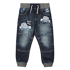 bluezoo - Boy's blue car applique jeans