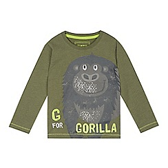 bluezoo - Boy's khaki gorilla print top