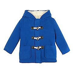bluezoo - Boy's bright blue fleece duffle coat