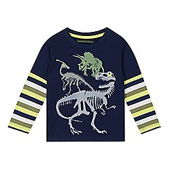 bluezoo - Boy's navy dinosaur print top