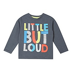 bluezoo - Boy's grey 'Little but loud' t-shirt