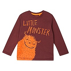 bluezoo - Boy's dark red monster print top